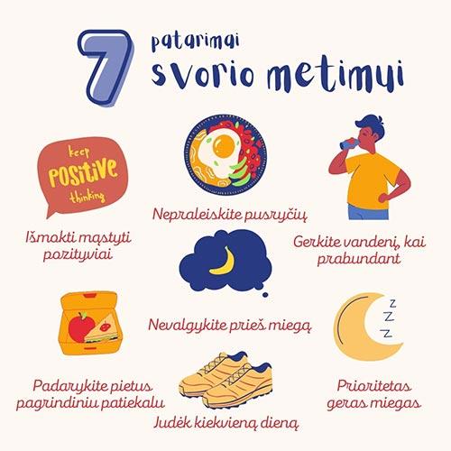 7 patarimai svorio metimui